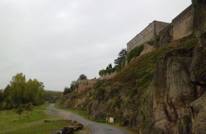 Parthenay--along bastions-crop