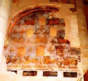 Fresco at Fontevraud abbey
