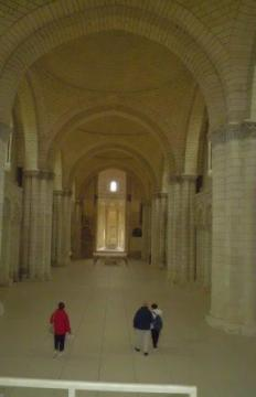 Fontevraud abbey--view of the nave